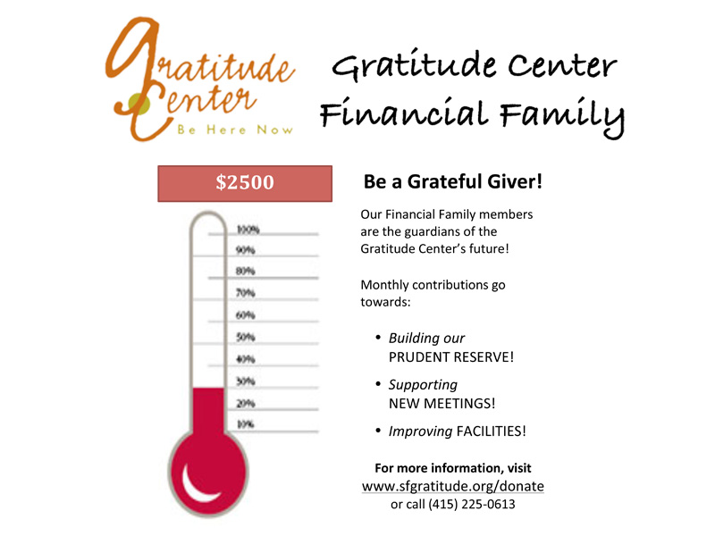 Join the Family! Support the Gratitude Center